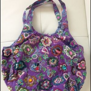 Vintage Embroidered Hobo Bag
