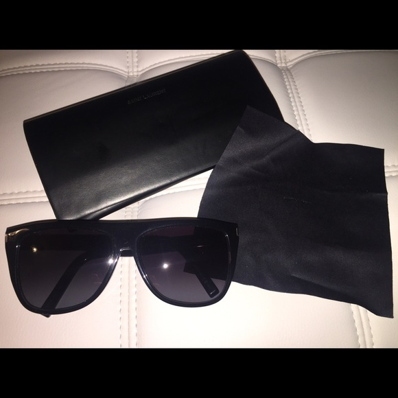 9c3474aa5cd Yves Saint Laurent Accessories | Black Ysl Sl1 Sunglasses Hard To ...