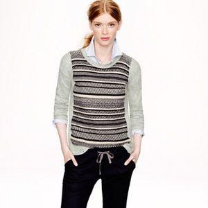 J. Crew texturized striped sweater