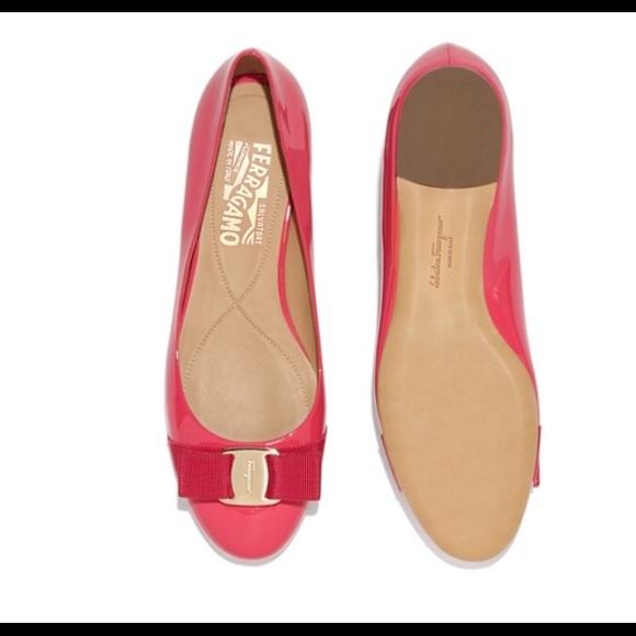 ff4dde6f41f4 Salvatore Ferragamo Varina Ballet Flat Dark pink