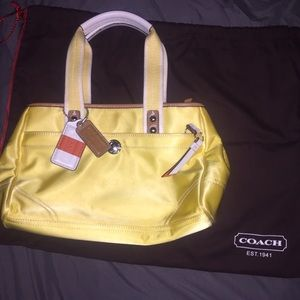 Authentic Like New COACH Yellow Purse