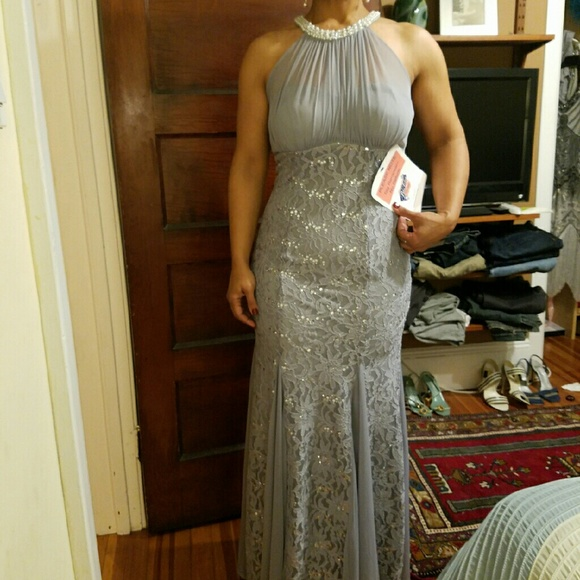 60% off Dresses Pewter Evening Gown | Poshmark