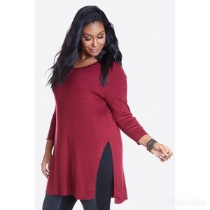 Fashion to Figure Tops - Fashion to Figure ribbed tunic top SZ 1 or 14/16