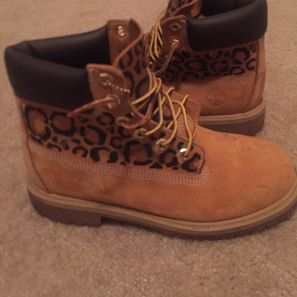 Timberland Shoes | Custom Leopard Print
