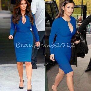 Dresses & Skirts - NWOT Body Hugging Blue Dress