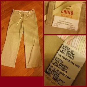 Faded Glory Pants - Faded Glory Size 12 Chino Pants..BRAND NEW