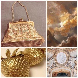 🎉HOST PICK 8/7 🎉Whiting and Davis Gold Mesh Bag
