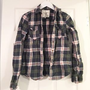 Plaid Abercrombie Button Down