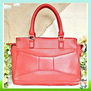 Structured red bag