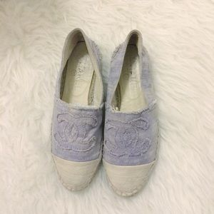 Reserved! Authentic Chanel Lavender Espadrilles