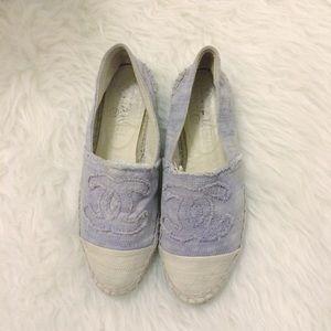 Authentic Chanel Lavender Espadrilles