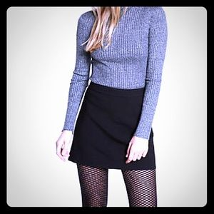 Rampage fitted black skirt