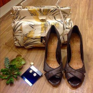 Nine West cork heels