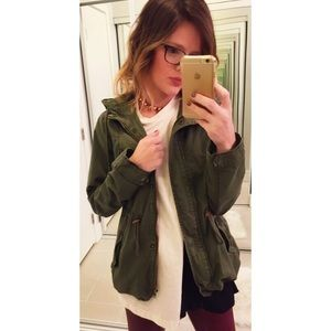 Ambiance Apparel Jackets & Blazers - ➡️Ambiance Green Hooded Parka⬅️