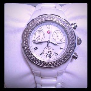 "Michele Accessories - DIAMOND Michele ""Tahitian"" Ceramic Watch"