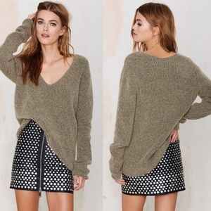 Just Female Voice Wool Ribbed Sweater