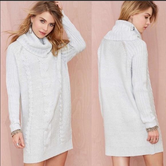 7849603edcf Nasty Gal Rise   Shine Turtleneck Sweater Dress
