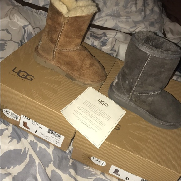 bcdbe6810e9 Two pairs of used toddler ugg boots