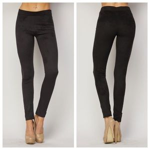 1 HOUR SALE!! Black Suede Leggings