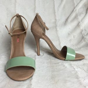 BNWOB Nude & Mint Sexy Sandals 7 JustFab