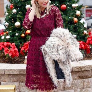 chicwish Dresses & Skirts - Chicwish Burgundy Lace Dress