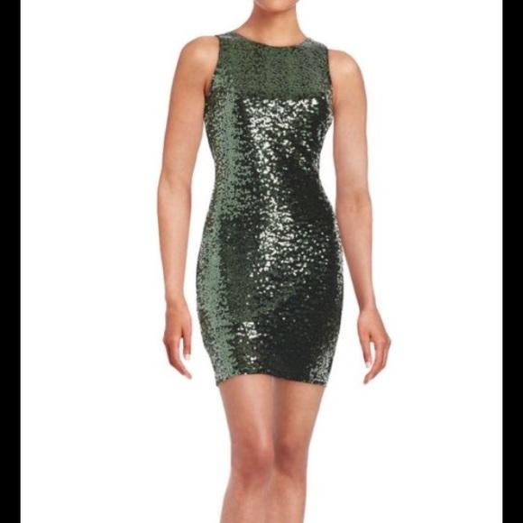 Belle Badgley Mischka Green Sequin Sheath Dress | Poshmark