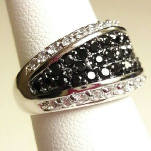 Celina Nicole Luxe Fashion Jewelry  Jewelry - 🆕925 Sterling Silver & Black CZ Ring🆕