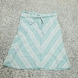 Talbots blue and white  chevron skirt