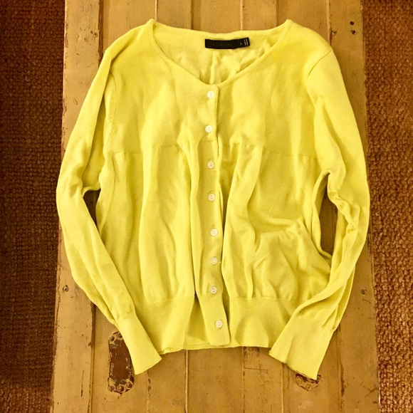 82% off The Limited Sweaters - The limited brand bright yellow ...