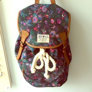 JACK WILLS British canvas backpack - new!