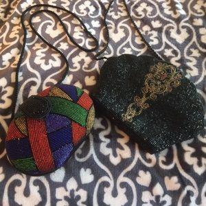 Set of 2 Beaded Crossbody Bags