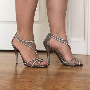 Caparros Shoes - Dark Silver High Heal Sandals