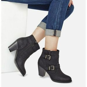 JustFab Black Booties