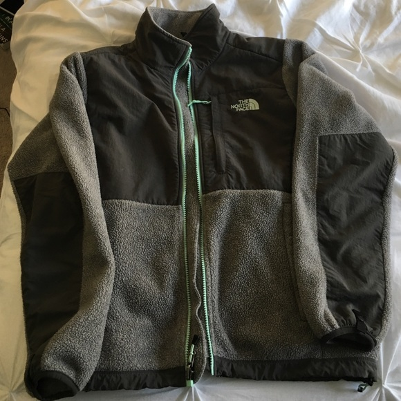 6f86ae5b2 Grey with mint green accent North Face Denali