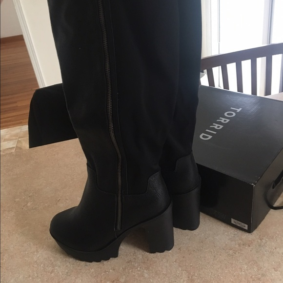 a050a4ae847 Torrid Extra Wide Calf Knee Boots