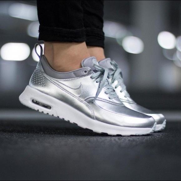 Nike Air Max Thea womens metallic silver sneakers size 10.5