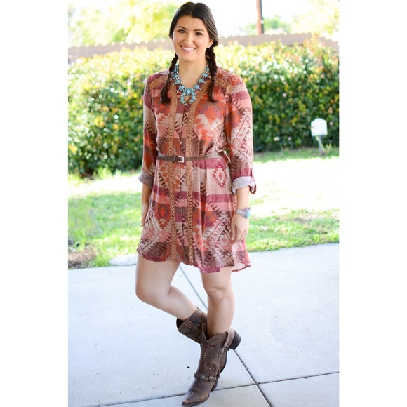 Blu Pepper Dresses - 🎀The Fancy Aztec Western Tunic🎀