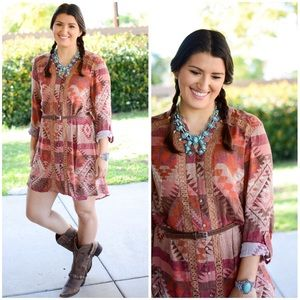 Blu Pepper Dresses & Skirts - 🎀The Fancy Aztec Western Tunic🎀