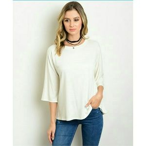 Tops - 1 SMALL LEFT 🌹 IVORY TOP