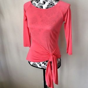 Cache silk side tie top