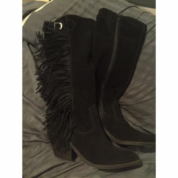 75% off Carlos Santana Shoes - Carlos Santana fringe boots from ...