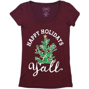 Jennifer's Chic Boutique Tops - Happy Holidays Y'all Christmas Tee