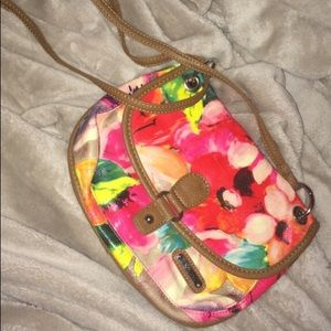 Handbags - Floral cross body bag