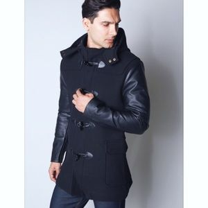 Boutique Other - Men's Black Toggle Wool Coat