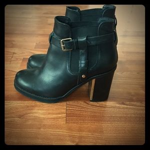 Topshop leather ankle boots -size 9, fits like 8.5