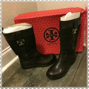 Tory Burch Shoes - Tory Burch Corey Mid Calf Flat Boot TRIED ON ONCE
