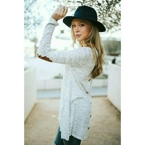 Tops - Heather Gray Two Tone Tunic