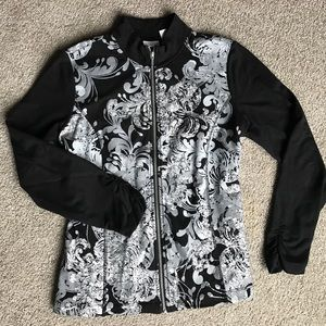 Chico's Tops - Chicos sz 1 (med)  zenergy black and silver jacket