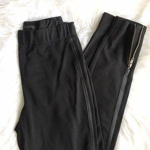 J. Crew Pants - J.Crew Leather Trim Leggings
