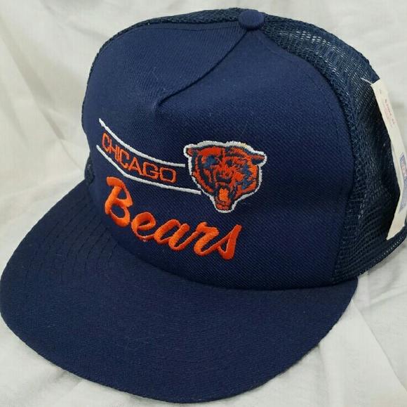 0bc9c353c NFL  nwt  Vintage Chicago Bears Trucker Cap Hat